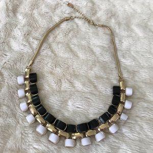 Express Black/gold/white statement necklace